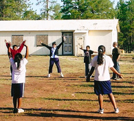 Youth exercising