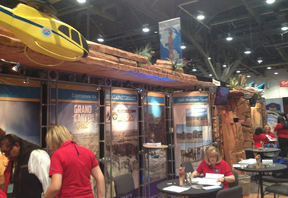 Grand Canyon Resort Corporation booth at the 2013 International Pow Wow Trade Show, Las Vegas, NV