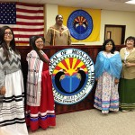 Tribal Court. Jade Honga, April Havatone, Judge Duane Yellowhawk, Jolene Marshall, and Margaret Vaughn