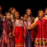 Some Hualapai girls singing