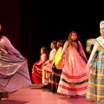 Little Miss Hualapai, Taylaquay Marshall, and bird dancers