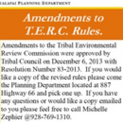 Amendments to TERC Rules