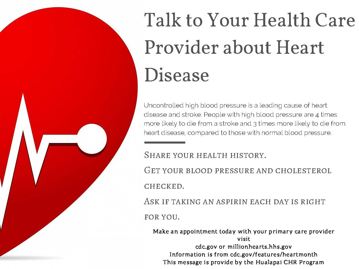 Talk to Your Health Care Provider about Heart Disease(1)